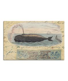 Whale Stamp Paper Place Mat - Set of 24 by Monahan Papers #zulily #zulilyfinds