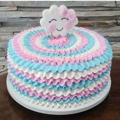 """508 Likes, 9 Comments - FoliaFestas&Fantasias Festança (@festanca) on Instagram: """"Morrendo de amores por esse bolo! para o tema chuva de bênçãos @amanda_lopes_cake_art…"""""""