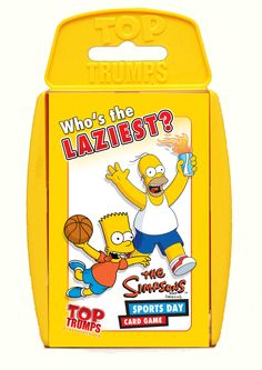 Simpsons Sports Day Top Trumps / RRP - £3.99 / Available from - Waterstones, Amazon, Toys R Us, Smyths, WH Smith