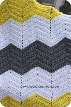 chevron afgan crochet pattern | Crochet Afghan2 ༺✿ƬⱤღ  https://www.pinterest.com/teretegui/✿༻