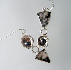Eco Friendly  Dangle Earrings in Recycled by laurastamperdesigns, $110.00