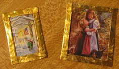 Dollhouse Decorating!: Don't throw out those holiday cards, candy wrappers, or old calendars - yet!