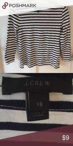 b905f782 J.Crew striped shirt J.Crew dark navy and white striped shirt. Cotton