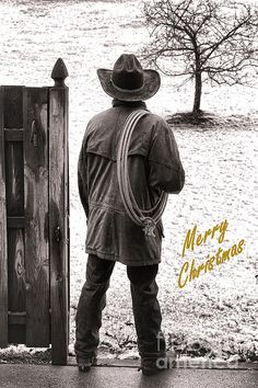 Merry Christmas From Cowboy Country Print By Olivier Le Queinec