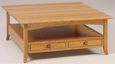 You'll save on every piece of furniture at Amish Outlet Store! We custom make every item, and you can get the Shaker Hill Open Square Coffee Table in Oak with any wood and stain.