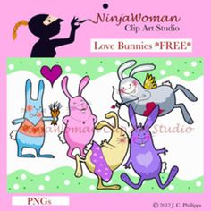 LOVE this bunny clip art! The artwork is fantastic and fun!