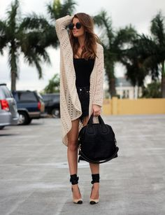 black and off white knitted combination. Thank God I'm a Girl
