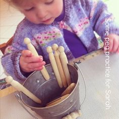 7 montessori practical life peg practice activity an everyday story Loose Parts for Little Ones