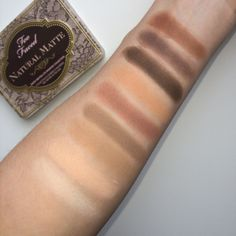 Too Faced Natural Matte Palette review with swatches on fair skin