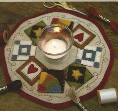 primitive wool applique patterns | Primitive Folk Art Wool Applique Pattern: QUILT BLOCK ... | WOOL CRA ...