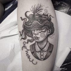 Dotwork Tattoos Beautifully Illustrate Fairytale Scenes