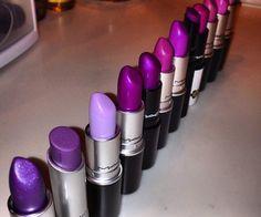 deze lipsticks zijn allemaal verschillende kleuren paars. Dat noem je een kleurenfamilie