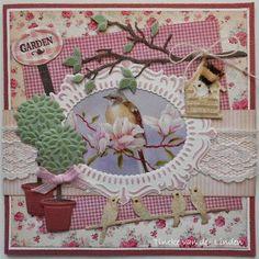 Tineke's kaartenhoekje Marianne Design Cards, Birdcages, Garden Theme, Scrapbook Cards, 3 D, Card Making, Crafts, Cards, Animal Cards