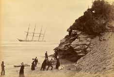 Wreck of the ship George Roper, Point Lonsdale, by Fred Kruger, 1883 [[MORE]] NGV via wikicommons.
