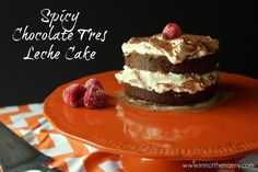 Do Something Easy And Fabulous This Valentine's Day Try This Spicy Chocolate Tres Leche Cake Recipe Yum Via Thien Nguyen-Kim Lam Healthy Dessert Recipes, No Bake Desserts, Easy Desserts, Delicious Desserts, Cake Recipes, Yummy Food, Romantic Desserts, Romantic Meals, Creative Desserts