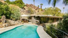 Escape the bustle of nearby Palm Springs in Zsa Zsa Gabor's mid-century home in Cahuilla Hills. This Sonoran Desert gem is a must-see.
