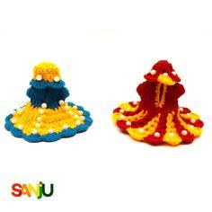 Krishna winter dress Krishna Janmashtami, Cute Krishna, Winter Dresses, Cute Dresses, Knit Crochet, Crochet Necklace, Knitting, Celebrities, Birthday