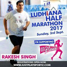 Rakesh Singh an active Runner supports the cause: STOP VIOLENCE AGAINST WOMEN  #StopViolenceAgainstWomen  For Registrations: https://justplaysportz.com/events/Ludhiana-Half-Marathon-2017  #Punjab #Ludhiana #HalfMarathon #10K #5K #21K