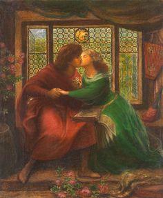 """Dante Gabriel Rossetti, """"Paolo and Francesca da Rimini"""", watercolour, 1867."""