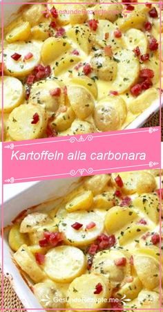 ZUTATEN: 1 kg Kartoffeln 1 Zwiebel 150 g Speck 300 ml Sahne 80 g Parmesan 1 Ei S… – Salade Salades Composées Salades Nederlands Drink Tumblr, Tumblr Food, Summer Recipes, Macaroni And Cheese, Bacon, Food Porn, Food And Drink, Stuffed Peppers, Snacks