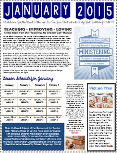 2015 Primary Teacher Newsletters - I definitely want the lesson schedule
