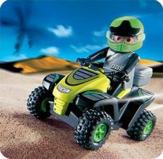Playmobil All Terrain Vehicle by Playmobil. $13.99. The pilot of the all terrain vehicle is intent on crossing the line before his competitor, the quad bike rider (item 4425). Thanks to the integrated engine he has good chances of doing so - but the race remains open until the end!