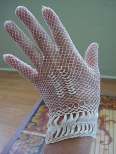 Antique Lace Gloves   Vintage 1920s Lace Gloves Gatsby Bridal Gloves by bycinbyhand