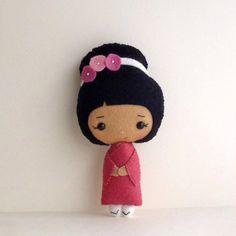 Japanese Geisha Felt Doll Sewing Pattern