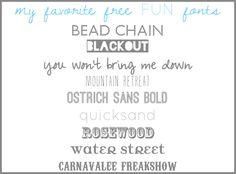 My Favorite Free Fun Fonts