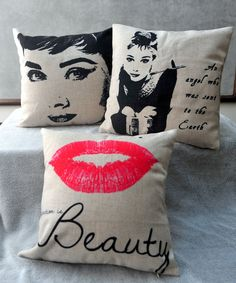 Hey, I found this really awesome Etsy listing at https://www.etsy.com/listing/184156089/audrey-hepburn-marilyn-monroe-lip-linen