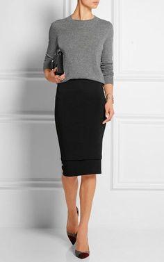51 Elegante schwarze Outfits mit Bleistiftrock - Diy-Mode 51 Elegant black outfits with a pencil ski Fashion Mode, Work Fashion, Womens Fashion, Trendy Fashion, Ladies Fashion, Fashion Ideas, Fashion 2018, Fashion Outfits, Fashion Stores