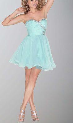 Short Light Blue Flattering Slim Prom Dresses KSP436