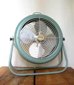 Vintage Floor Fan - Eldorado Working - Two Speed Electric Fan - Robins Egg Blue via Etsy @SplendidJunk Vintage