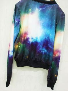 Galaxy Cosmic Crewneck Pullover by MineolaLove on Etsy, $36.90