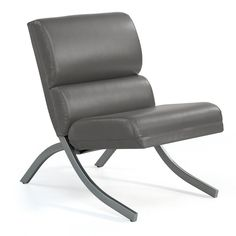 Rialto Charcoal Bonded Leather Chair - Overstock™ Shopping - Great Deals on Living Room Chairs $160