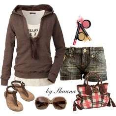 """""""comfy for a cool summer day"""" by shauna-rogers on Polyvore"""