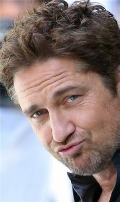 gerard butler - the only person who can make a duck face