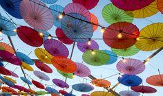 Night Noodle Markets #umbrellas #parasols #nightmarkets