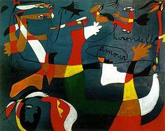 Joan Miro Most Famous Painting | Joan Miro - Hirondelle d'amour 1934