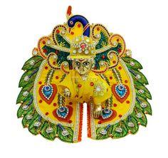 Yellow Peacock work Laddu Gopal Poshak, amfez.com