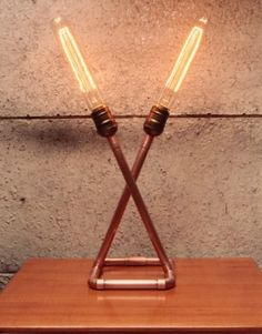 One of my latest lighting creations copper tube lamp with a one of my latest lighting creations copper tube lamp with a vintage bulb copper sculpture pinterest bulbs vintage and pipes keyboard keysfo Gallery