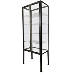 Iron Glass Apothecary Medical Doctor Industrial Buffet/Cabinet,40''H