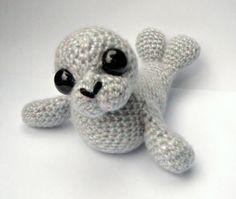 Seal Amigurumi Crochet Pattern PDF Sable by PatchworkMoose, Crochet Eyes, Crochet Baby, Knit Crochet, Crochet Crafts, Crochet Dolls, Crochet Projects, Amigurumi Patterns, Crochet Patterns, Knitted Animals