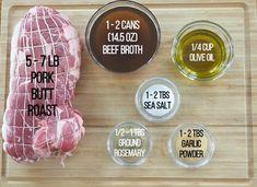 Best Pork Roast Recipe, Pork Roast Recipes, Grilling Recipes, Crockpot Recipes, Pork Ham, Pork Loin, Pork Tenderloins, Beef Tenderloin, Boston Butt Dry Rub Recipe