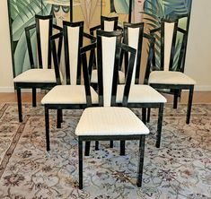 6 italian lacquer art deco dining chairs art deco dining 6