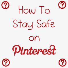 Tips for staying safe on Pinterest- this pin saved me from clicking on a malicious URL! Pin now- read now!