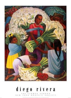 'The Flower Vendor' by Diego Rivera