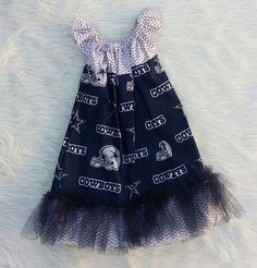 Dallas Cowboys Basic Flutter Dress SIZE 6/7,baby girl dresses,girls dresses,flutter dresses,handmade dresses,baby dresses,princess dresses by HopskotchKids2 on Etsy