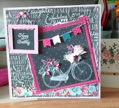 Fab card made with the craftwork cards chalkboard pad