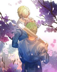 Zosan zoro x sanji Manga Anime One Piece, One Piece Fanart, Yuri, Brooks One Piece, One Piece Series, Anime Friendship, One Piece Ship, One Piece Images, Japanese Anime Series